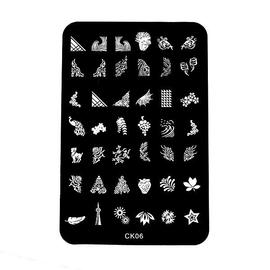 Диск с трафаретом CK-06 для Nail Stamping (42 рис)