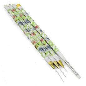 Набор кистей для дизайна 4шт росписная ручка