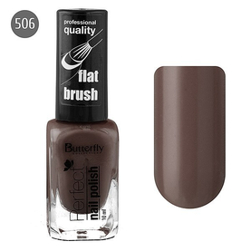 Butterfly Лак для ногтей Perfect 10мл №506 красно-коричневый