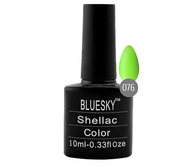 Bluesky гель-лак 10 мл №076  зеленый неон