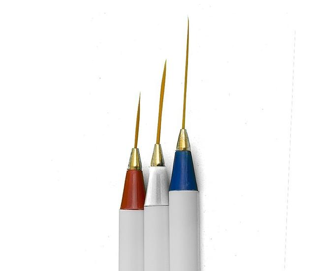 Набор кистей для дизайна 3шт. волосок