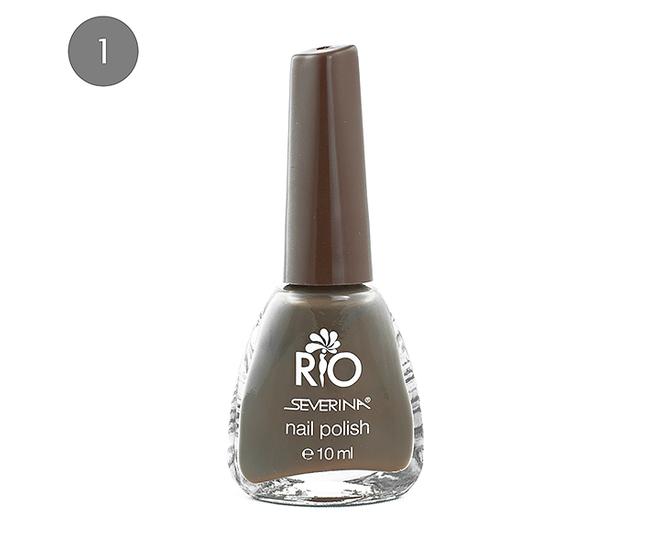 """Severina Лак для ногтей """"Rio'' 10мл №01 Коричневый"""