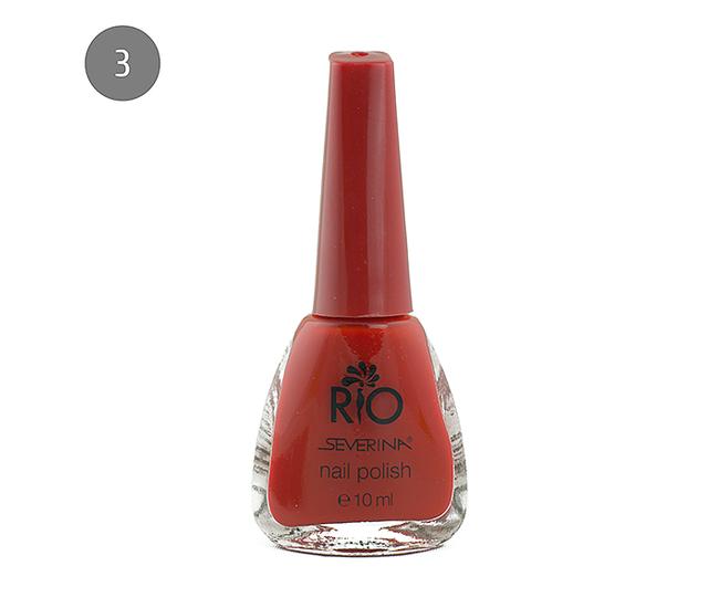 """Severina Лак для ногтей """"Rio'' 10мл №03 Красный"""
