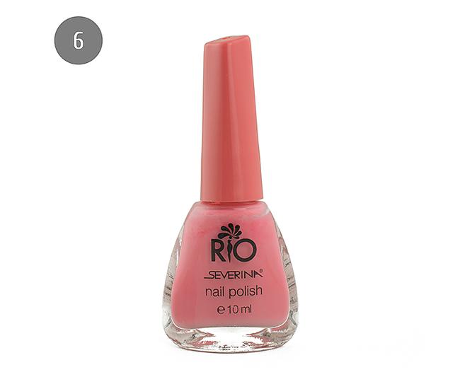 """Severina Лак для ногтей """"Rio'' 10мл №06 Розовый"""