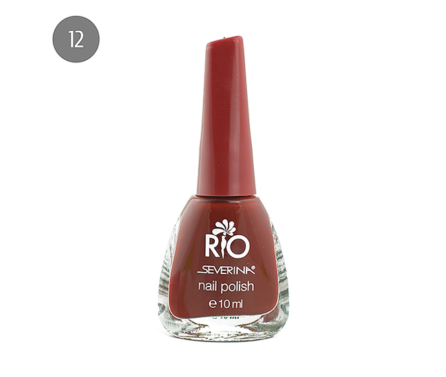 """Severina Лак для ногтей """"Rio'' 10мл №12 Красный"""