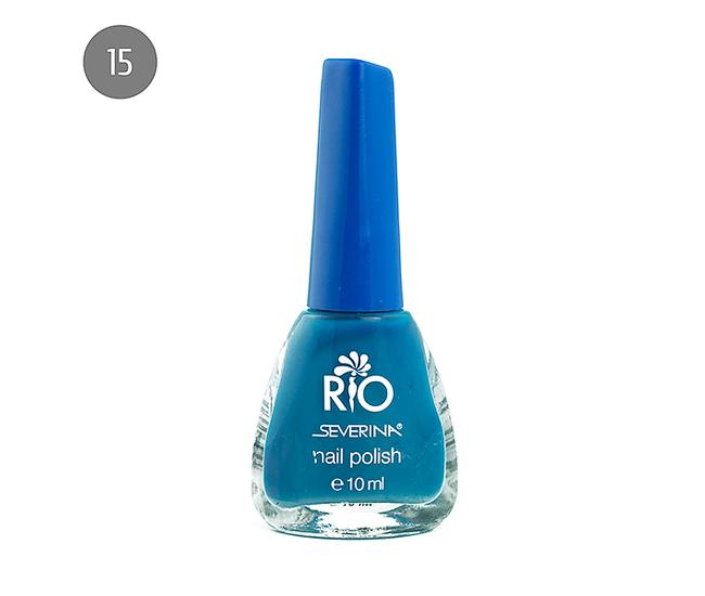 "Severina Лак для ногтей ""Rio'' 10мл №15 Синий"