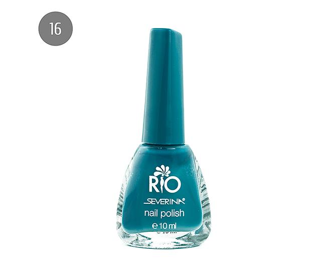 "Severina Лак для ногтей ""Rio'' 10мл №16 Голубой"