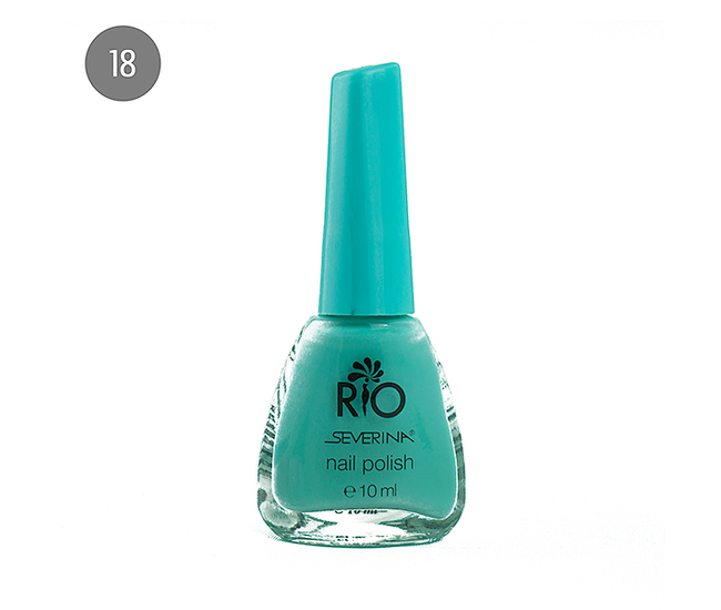 "Severina Лак для ногтей ""Rio'' 10мл №18 Голубой"