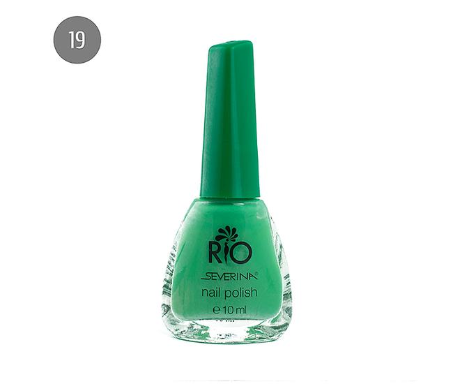 """Severina Лак для ногтей """"Rio'' 10мл №19 Зелёный"""