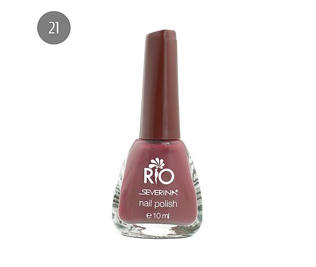 """Severina Лак для ногтей """"Rio'' 10мл №21 Красный"""