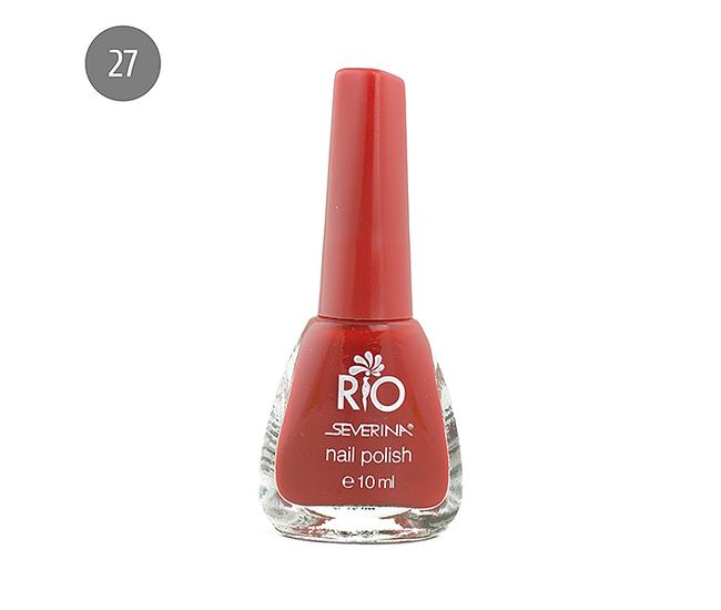 """Severina Лак для ногтей """"Rio'' 10мл №27 Красный"""