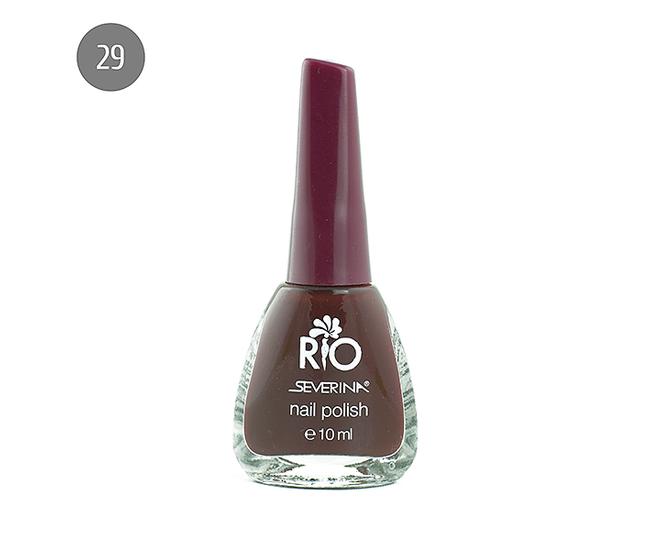 """Severina Лак для ногтей """"Rio'' 10мл №29 Бордовый"""