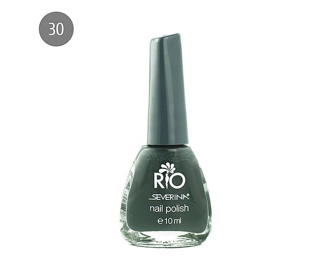 "Severina Лак для ногтей ""Rio'' 10мл №30 Серый"