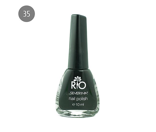 """Severina Лак для ногтей """"Rio'' 10мл №35 Черный"""