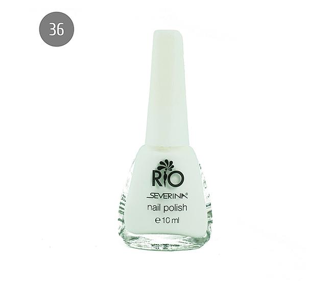 "Severina Лак для ногтей ""Rio'' 10мл №36 Белый"
