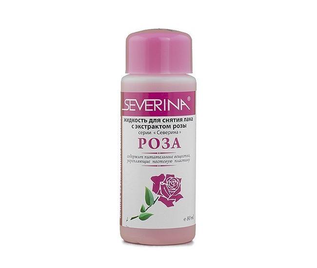 Severina жидкость для снятия лака роза 80мл