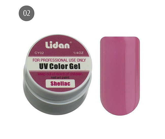 Lidan гель цветной CY02