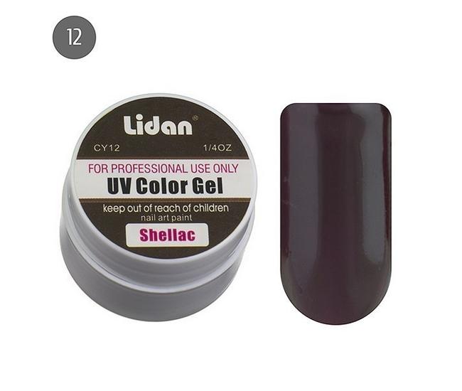Lidan гель цветной CY12