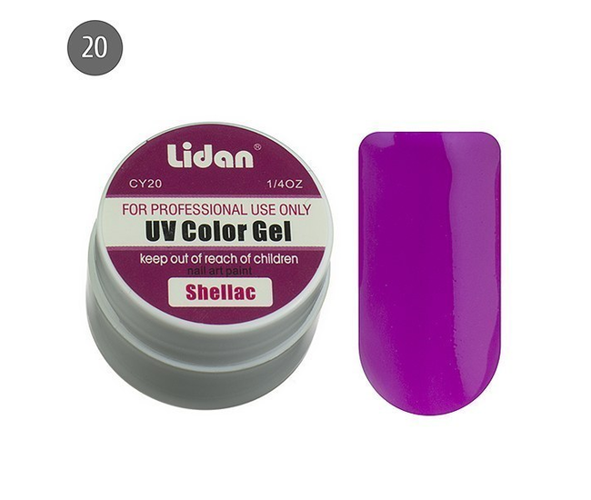 Lidan гель цветной CY20