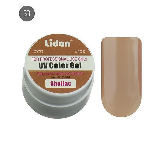 Lidan гель цветной CY33