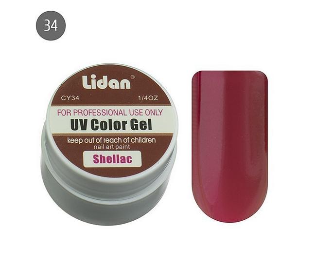 Lidan гель цветной CY34