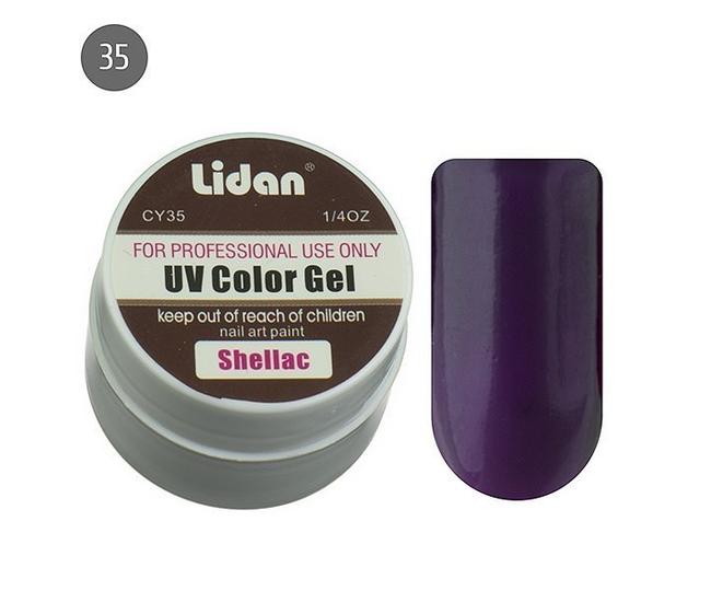 Lidan гель цветной CY35