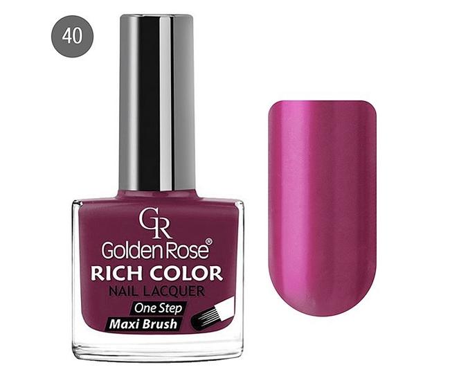 Golden Rose Лак для ногтей Rich Color 10.5мл №40