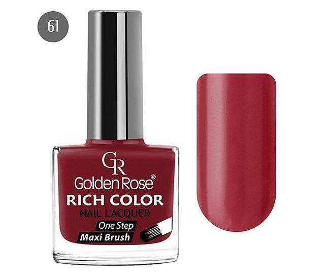 Golden Rose Лак для ногтей Rich Color 10.5мл №61
