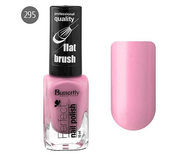 Butterfly Лак для ногтей Perfect 10мл №295 розовый