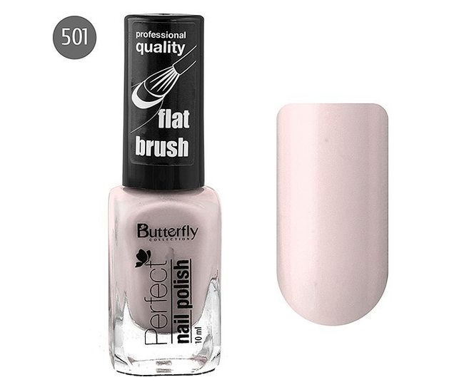 Butterfly Лак для ногтей Perfect 10мл №501 бледно-персиковый