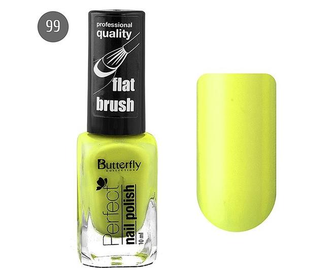 Butterfly Лак для ногтей Perfect 10мл №099 лимонный