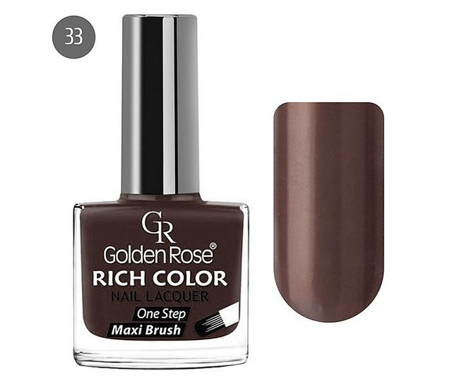 Golden Rose Лак для ногтей Rich Color 10.5мл №33