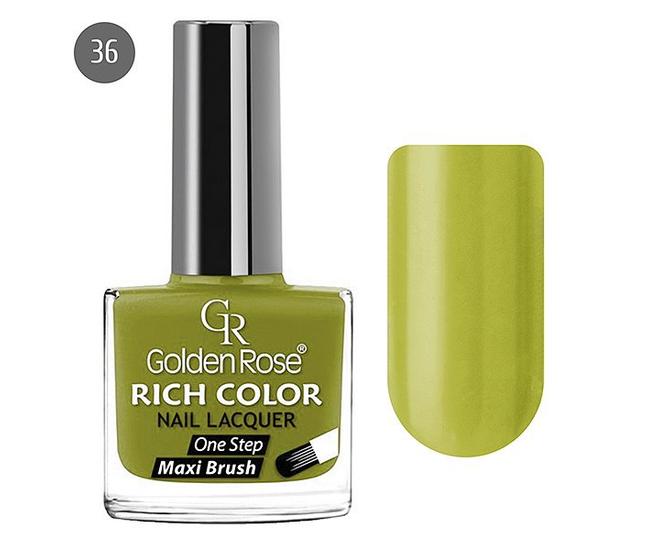 Golden Rose Лак для ногтей Rich Color 10.5мл №36