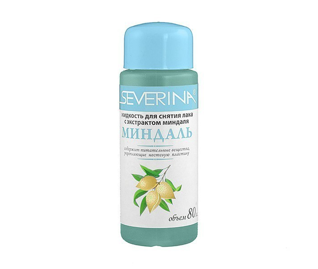 Severina жидкость для снятия лака Миндаль 80мл