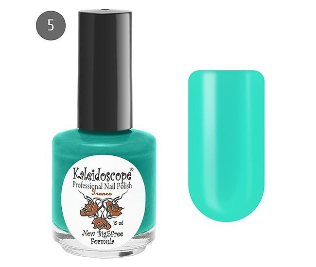 Лак для ногтей Kaleidoscope Яркая Я №05 на фитнесе (лазурный) 15мл