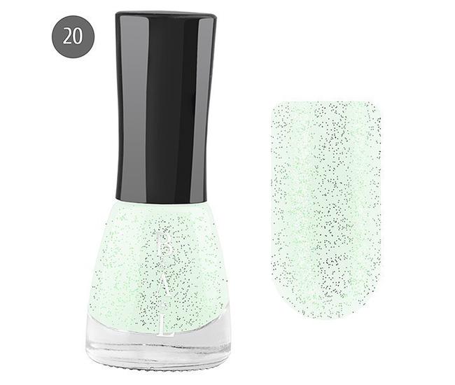 Bal Лак для ногтей 6мл №20 блёстки зелёные мульти