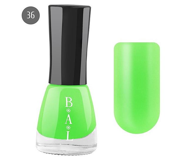 Bal Лак для ногтей 6мл №36 неоново-салатный матовый